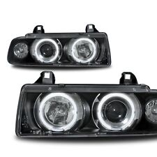 2 FEUX PHARE AVANT ANGEL EYES CCFL MONOBLOC BMW SERIE 3 E36 BERLINE