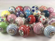 10 Mixed Wholesale Cheap Ceramic Cupboard Kitchen Door Knob 'Slight Second' Sale