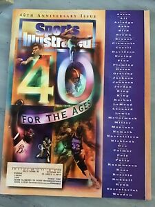 September 19 1994 40th Anniversary Issue Sports Illustrated Magazine Vintage OLD