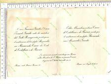 705 -429 )Edda Mussolini  contessa Ciano- invito matrimonio figlia Raimonda 1959