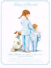 PUBLICITE ADVERTISING 094  1992  TARTINE & CHOCOLAT C. PAINVIN  pyjamas enfant