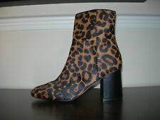 NEXT FOREVER COMFORT ANKLE BOOTS HEEL ANIMAL PRINT PONY HAIR EFFECT EU 38 / UK 5