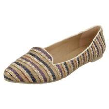 Zapatos planos de mujer textil de color principal beige