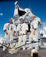 APOLLO 12: CHARLES CONRAD, RICHARD GORDON, ALAN BEAN, Repro-Autogramm, 20x24 cm