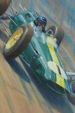 Jim Clark Lotus 25 British Grand Prix Motor Sport Racing Classic Car Art Print