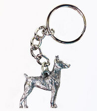 Doberman Pinscher Dog Keychain Keyring Harris Pewter Made Usa Key Chain Ring