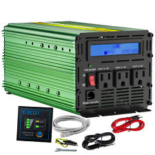 Edecoa Car Power Inverter 2000W 4000W 24V dc to120V ac with Lcd Cables Remote