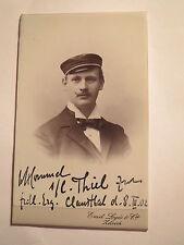 Zürich - 1902 - GDS Teutonia - Woldemar Hommel - CDV / Studentika Clausthal