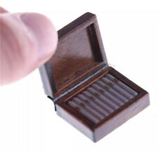 Dollhouse Miniature Wooden Cigar Box 1:12 Scale 2.5cm US Seller
