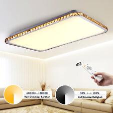 Modern Kristall Lampe LED Deckenleuchte 50W dimmbar mit Fernbedienung Wohnzimmer