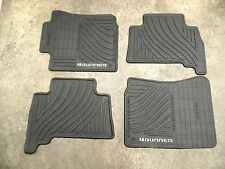 OEM BLACK ALL WEATHER PAIR FRONT REAR FLOOR MATS TOYOTA 4RUNNER 10-12 NICE 4 PC