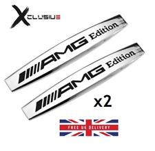 2x Mercedes AMG Edition Badge Emblem Chrome  A B C CLK CLS E G M ML S SLK Class