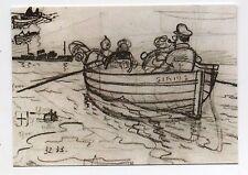Carte Postale Tintin Les crayonnés n°1. La chaloupe du Sirius - 2016