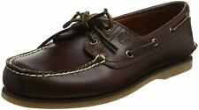 Timberland Mens Classic 2 eye boat shoe Closed Toe, Rootbeer/Brown, Size 9.5 Haw
