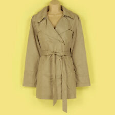 BNIP CHIC BEIGE SPOTTY LINED LIGHT WEIGHT CLASSY BELTED MAC/JACKET SIZE 10-12