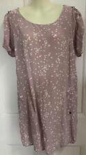 """Maison Scoth Crepe Dress """"LA FEMME SELON MARIE"""" Mauve Size 2 M STARS PATTERN"""