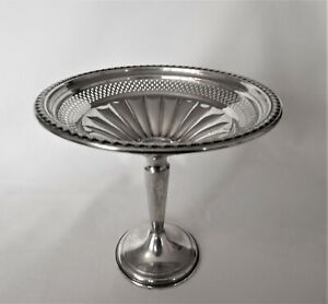 Antique sterling silver pedestal comport / tazza..unbranded # 932 United States