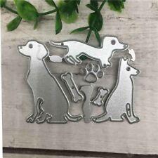 Hunde Knochen Metall Stencil Cutting Dies Scrapbooking Stanzschablone Karte DIY
