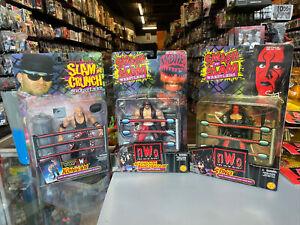 Toybiz 1999 WCW Smash Slam Wresters Sting Trademark Coat Nwo Lot