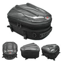 Motorcycle Motorbike Tail Pack Bag Waterproof Rear Seat Bag Saddle Bag Luggage