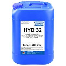 1x20l HLP 32 Hydrauliköl Hydraulikflüssigkeit DIN 51524 Teil 2 HLP32 20 LITER