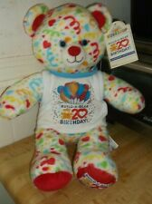 """Build a Bear 20th Birthday Confetti stuffed plush teddy bear new with tags 16"""""""