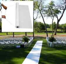 White Wedding Aisle Runner. Decoration Marriage Ceremony Carpet Roll Party Decor