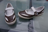 JOSEF SEIBEL Damen Sommer Schuhe Comfort Sandalen Klett Gr.39 weiß braun Leder