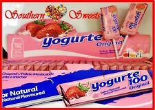 YOGHURT STRAWBERRY LOLLIPOPS 50CT LOLLY POPS PINK LOLLIES GLUTEN FREE YOGURTE
