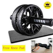 Ab Double Roller Wheel Machine Abdominal Exercise Arm Workout Fitness Equipment