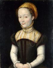 Oil painting corneille de lyon - Portrait of a Woman free shippingcost canvas