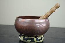"Brass Singing Bowl Nepal Meditation Free Cushion & Mallet 6"" FREE SHIPPING"