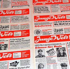 DDR JUNGE WELT OKTOBER 1989 Geburtstag Hochzeit 32. 33. 34. 35. 36. Zeitung FDJ