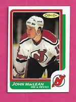 1986-87 OPC  # 37 DEVILS JOHN MACLEAN  ROOKIE NRMT+ CARD (INV# C4396)