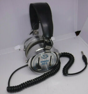 VINTAGE 1960'S SIC SONIC 303 HEADPHONES MADE IN JAPAN RARE L@@K