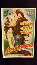 Under Capricorn 1949 Spanish Herald Movie Poster Alfred Hitchcock Ingrid Bergman