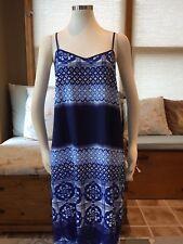 Ann Taylor Blue Mixed Print Maxi Sun Tank Dress Geo Floral 8 Petite Excellent