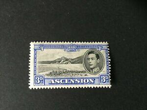 Ascension: 1938, King George VI definitive  3d black & ultramarine, SG 42, Mint
