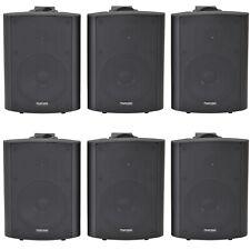 """6x 90w schwarz Wandmontage Stereo Lautsprecher –5.25"""" 8 Ohm – Qualität Home Audio Musik"""
