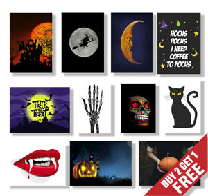 HALLOWEEN Posters A3 A4 Size Glossy Art Print, Halloween Party Decoration
