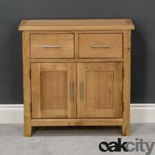 Nebraska Oak Sideboard / Solid Wood Small 2 Door 2 Drawer Storage Cupboard / New