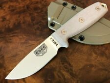 ESEE Knives 3 Tan Blade Plain Edge Micarta Handle OD Sheath ESEE-3P-DT