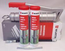 Würth Fettpresse Handhebelfettpresse 400g plus 2x Mehrzweckfett 400g - 098600