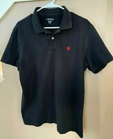 Izod Polo Short Sleeve Shirt Men's Large Black Free Shipping