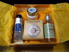 NEW L'Occitane 4 Piece Set with Box  Comforting and Hand Cream, Soap, Shower Oil