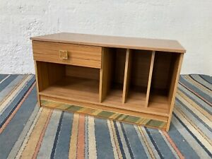 Vintage Formica Wood Effect Cabinet with Drawer and Record Dividers