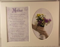 Mother Keepsake Photo Frame Mount to take 6 x 4 inch photo 20.25cm x 25.5cm