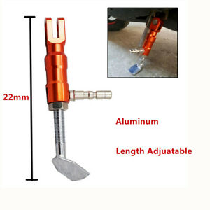 Adjustable Motorcycle Kickstand& Foot Brace Parking Leg Foot Side Support  Stand
