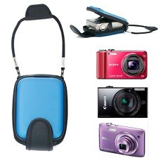 Blue Universal Digital Camera Semi Hard Case Bag Protector Jacket Sleeve