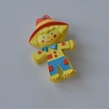 Vintage Avon NY 1975 Fragrance Glace Plastic Scarecrow brooch pin solid perfume